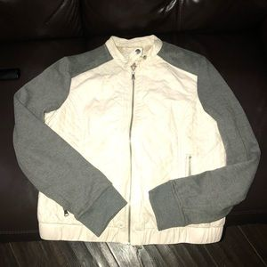 Leather / T-Shirt material jacket!